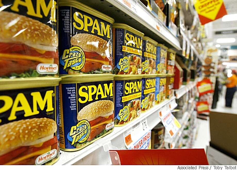 Sales of Spam  -- that much maligned meat  -- are rising as consumers turning more to lunch meats and other lower-cost foods as a way of stretching they're already stretched food budgets. Associated Press photo by Toby Talbot Photo: Toby Talbot, Associated Press