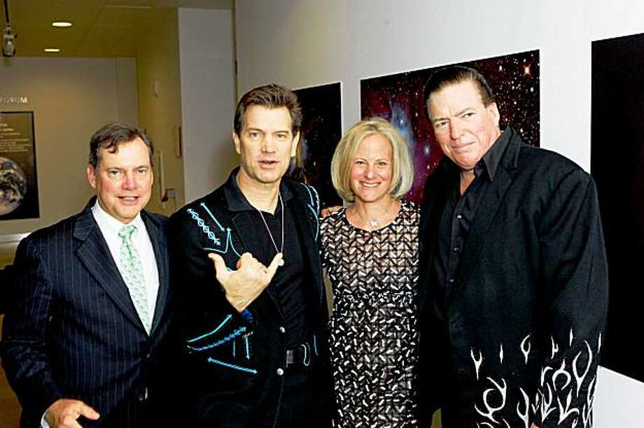 Bill Oberndorf, Chris Isaak, Big Bang Gala co-chair Susan Oberndorf and Kenney Dale Johnson at the Big Bang Gala Benefit featuring Chris Isaak on Sept. 25 at the California Academy of Sciences in San Francisco. Photo: Drew Altizer
