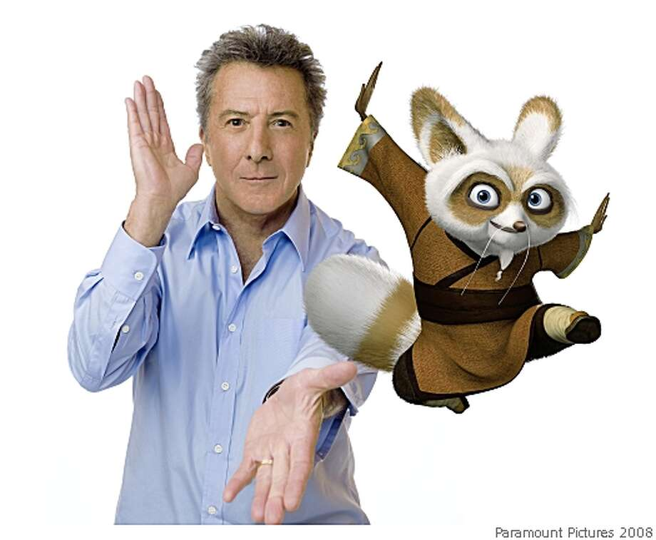 """Kung Fu Panda,"" features the voice of Dustin Hoffman as kung fu master Shifu. Photo: Paramount Pictures 2008"
