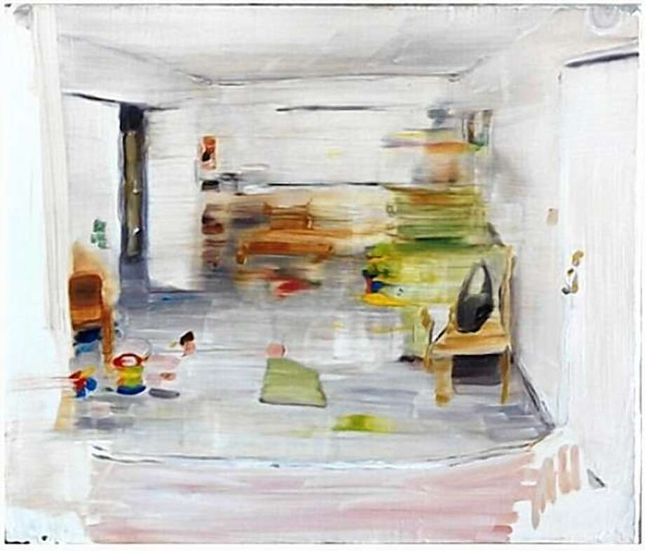"""Small Apt"" (2008) oil on canvas by Servando Garcia  10"" x 12"" Photo: Courtesy, Togonon Gallery, S.F."