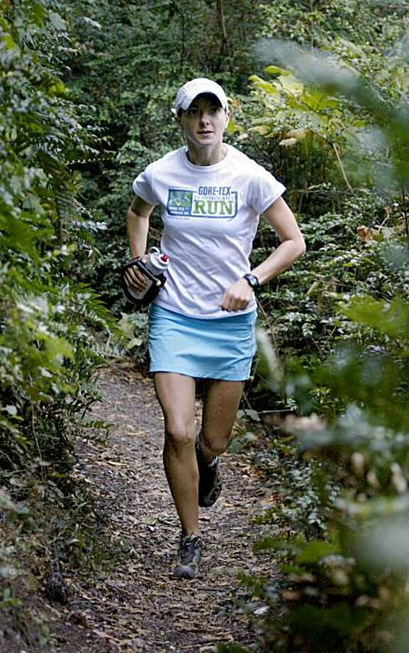 Caitlin Smith at Redwood Park in Oakland, Calif., on Wednesday, September 30, 2009. Smith is a mountain runner who recently won the open division in the Trans Rockies Run Photo: Liz Hafalia, The Chronicle
