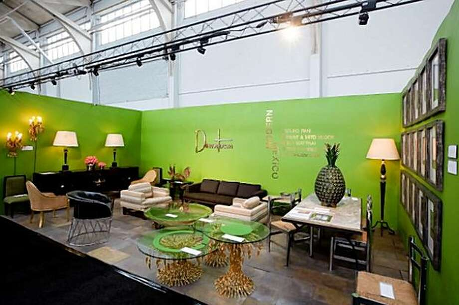 The second annual SF20, a  mid-century modern furniture, art and textiles show at Fort Mason, drew hundreds of guests on gala night Sept. 24, 2009. The show benefitted SFMOMA. Here, a vignette from a Los Angeles dealer. Atmosphere Photo: Tk Photographer: Drew Altizer