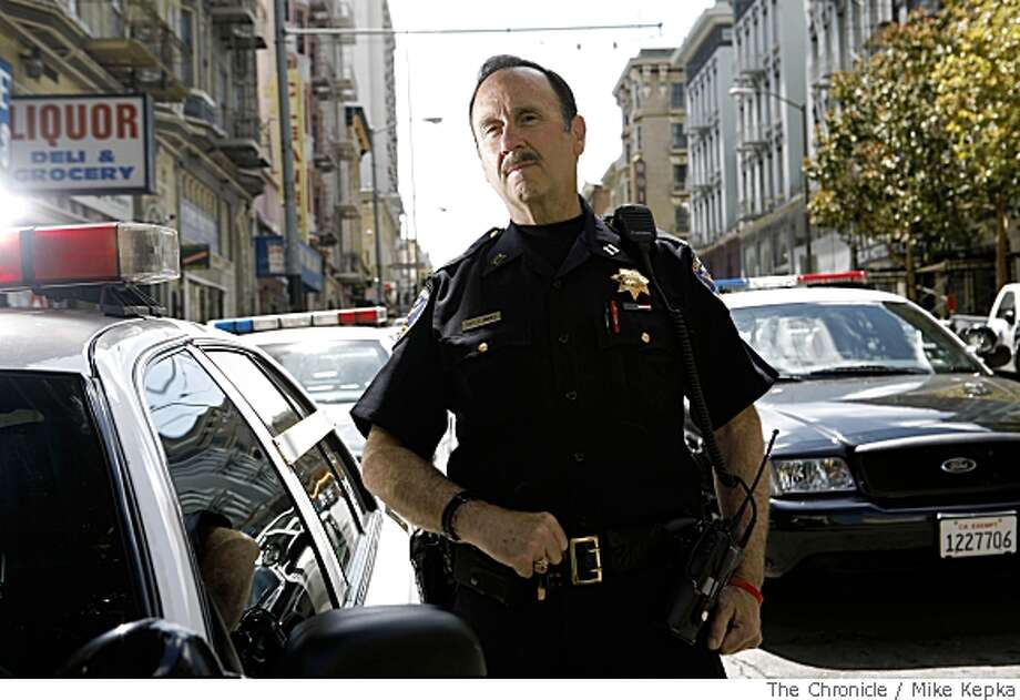 Captain Gary Jimenez with the San Francisco Police Department poses for a portrait out the Tenderloin Police Station on Wednesday May, 28, in San Francisco, Calif. Photo: Mike Kepka, The Chronicle