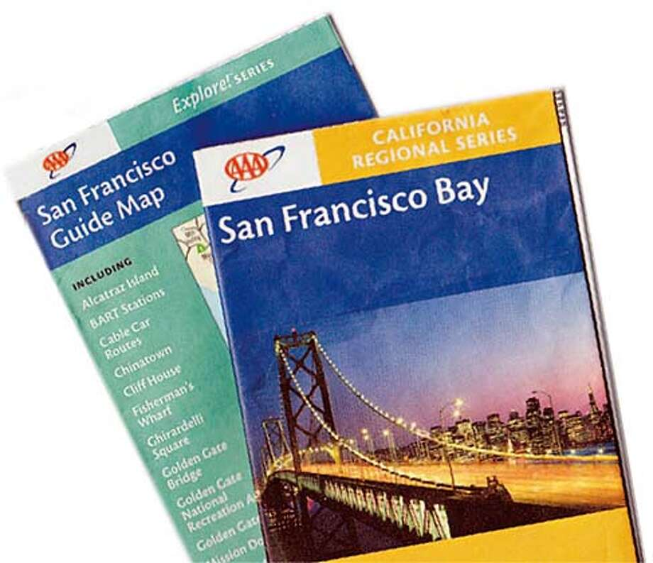 Auto clubs paper map unit nears end of road SFGate – Aaa Travel Maps And Directions