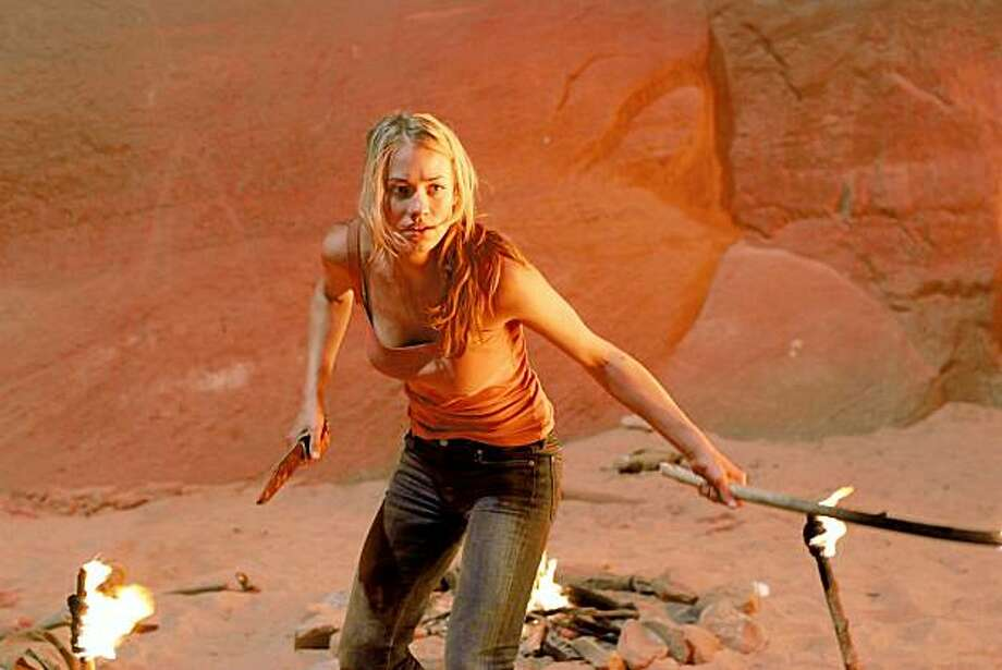 Yvonne Strahovski in a scene from Canyon.  Yvonne Strahovski in a scene from Canyon. Photo: Courtesy, Trulie Indie