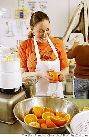 Carolina Braunschweig, owner of cmb sweets jam, preparing some oranges to make jam in her kitchen facility at La Cocina, in San Francisco, Calif., on May 14, 2008.Photo by Craig Lee / The San Francisco Chronicle Photo: Photo By Craig Lee, SFC