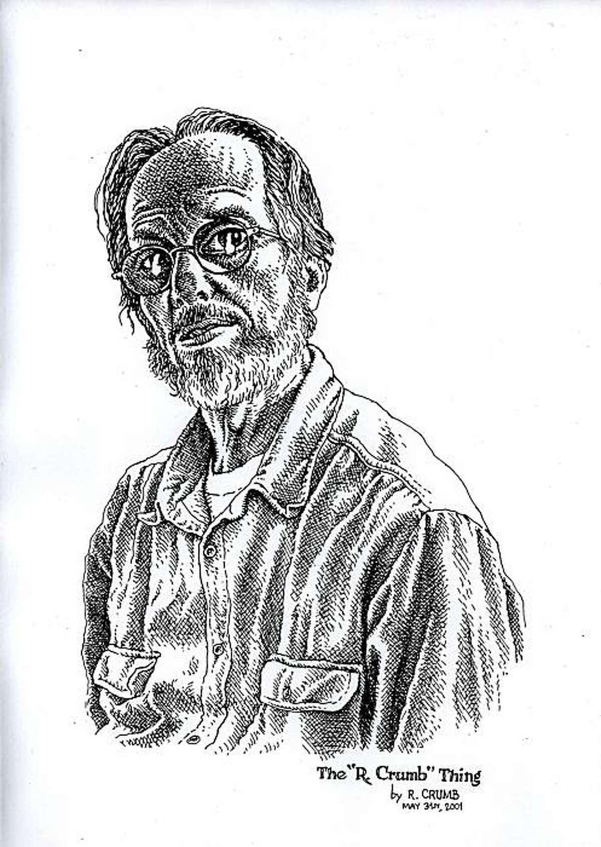A self-portrait of R. Crumb.