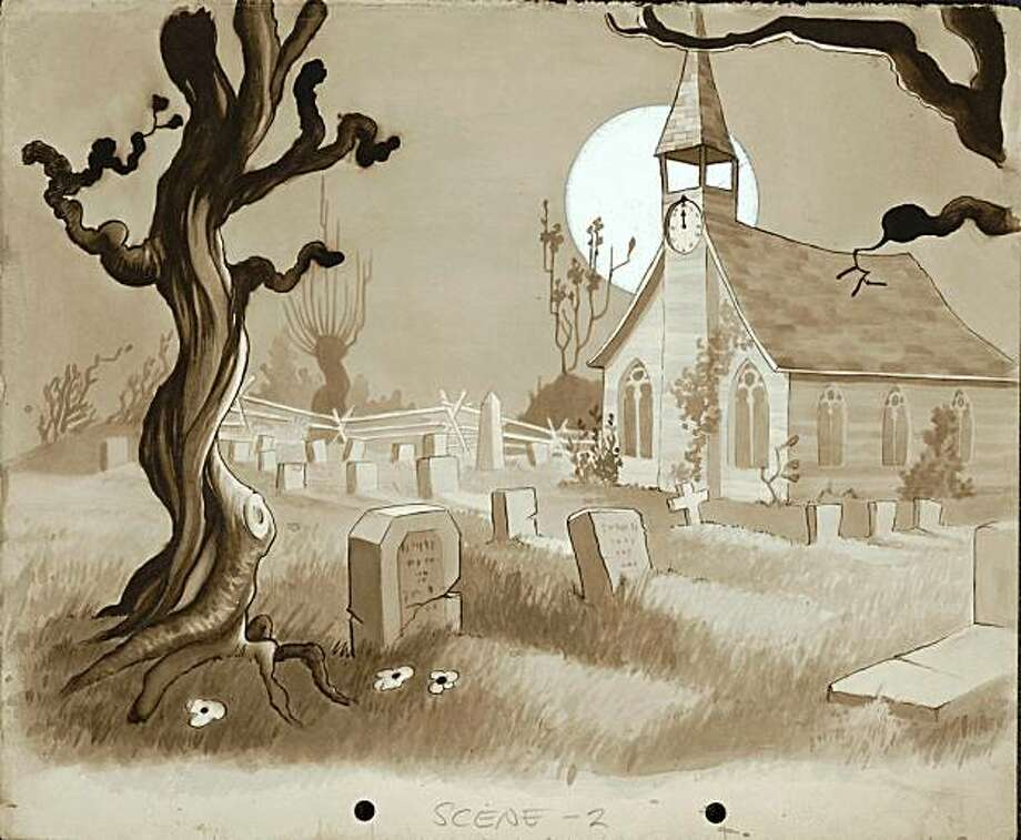 "Art from ""The Skeleton Dance,"" one of the cartoons featured at ""HallowScreen."" Photo: Walt Disney Museum"