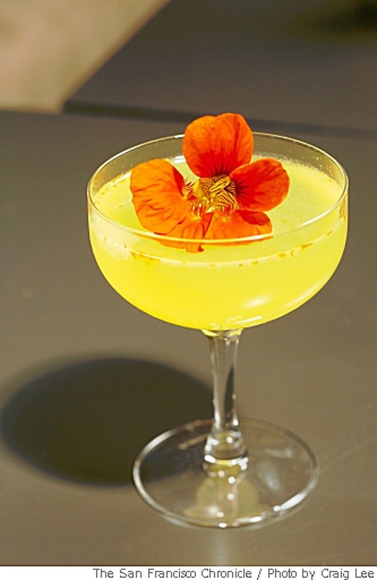 Sunrise Salutation, a drink made by Jacqueline Patterson, bar manager at Orson, in San Francisco, Calif., on May 16, 2008.Photo by Craig Lee / The San Francisco Chronicle