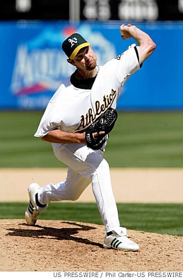 embree pitching in relief for a's Photo: Phil Carter-US PRESSWIRE, US PRESSWIRE