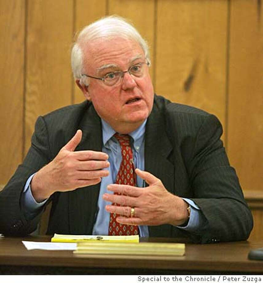 SENSENBRENNER 2 OF 4--Rep. James Sensenbrenner answers a constituant's question during a town hall meeting held by the Congressman in the Thiensville Town Hall Sunday, June 25, 2006, in Thiensville, Wis. (Peter Zuzga/Special to the Chronicle)  Ran on: 06-29-2006  Rep. James Sensenbren- ner says he will try today to get a majority of his committee to OK the bill.  Ran on: 07-03-2006  James Sensenbrenner is one of the GOP's leaders on immigration policy.  Ran on: 07-03-2006  James Sensenbrenner is one of the GOP's leaders on immigration policy.  Ran on: 07-03-2006 Photo: PETER ZUZGA