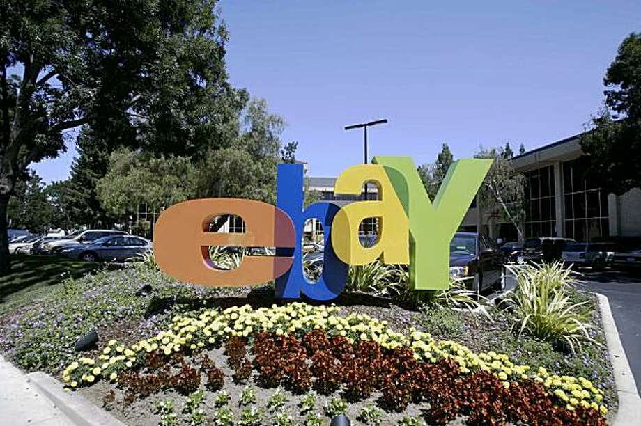 (FILES) This 20 August, 2005 file photo shows the entrance of  eBay headquarters in San Jose, California. Online auction giant EBay announced on September 01, 2009 that it was selling Skype to a group of investors for 1.9 billion dollars and retaining a 35 percent stake in the Internet communications firm. EBay purchased Skype in 2005 for a price tag that eventually exceeded 3.1 billion dollars, including payouts to Web entrepreneurs Niklas Zennstrom of Sweden and Janus Friis of Denmark, who founded the company in 2003.       AFP PHOTO /FILES/ HECTOR MATA (Photo credit should read HECTOR MATA/AFP/Getty Images) Photo: Hector Mata, AFP/Getty Images