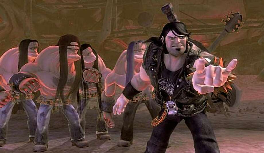Jack Black is the voice of Eddie Riggs, the demon-stomping roadie in the heavy metal-themed video game Brutal Legend. Photo: Courtesy Electronic Arts