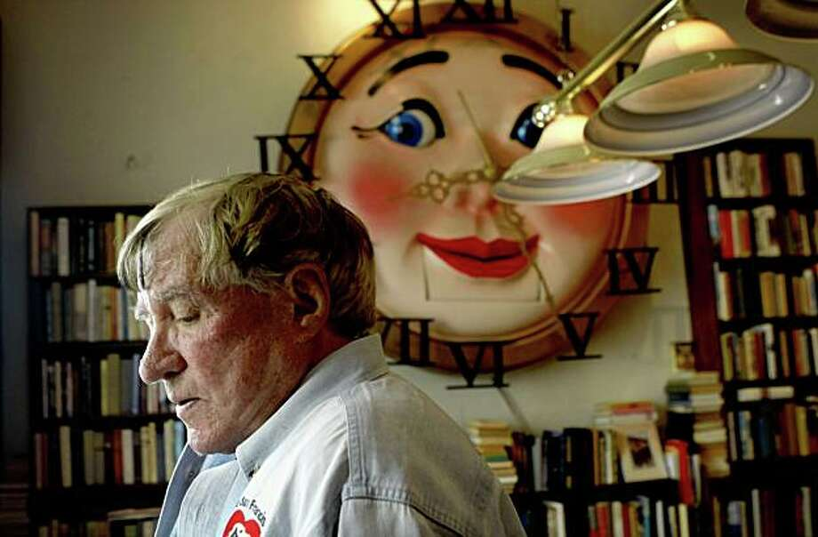 Pritikin shows off one of the rooms in his home where he has hung an animated clock from the F.A.O. Schwartz Toy store. Photo: Lacy Atkins, The Chronicle