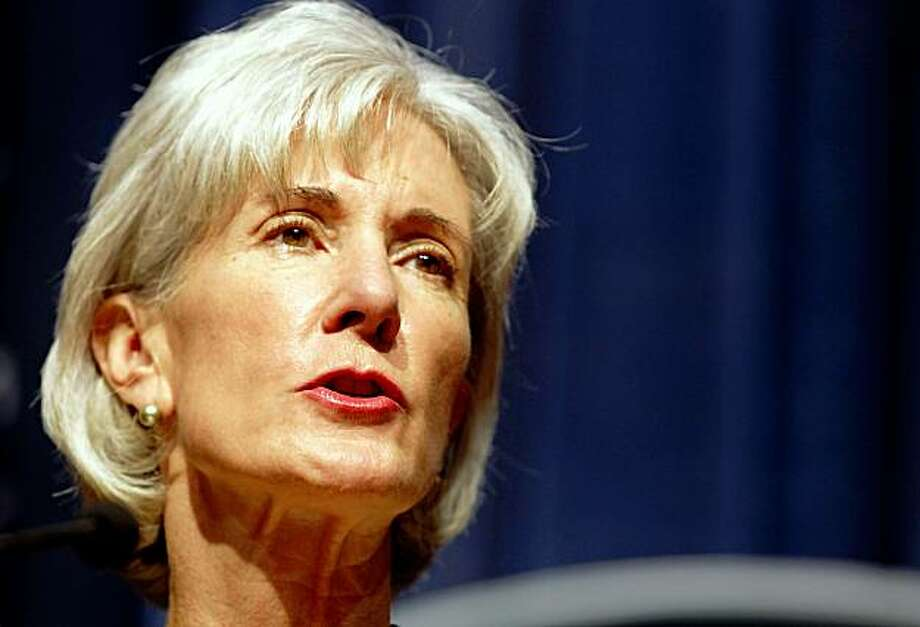 WASHINGTON - OCTOBER 15:  Health and Human Services Secretary Kathleen Sebelius highlights the Obama Administration's work to fight Medicare fraud during a news conference at HHS October 15, 2009 in Washington, DC. The departments of Justice and Health and Human Services have been working together closely to fight medical identity theft and other related crimes with the Health Care Fraud Prevention and Enforcement Action Team (HEAT).  (Photo by Chip Somodevilla/Getty Images) Photo: Chip Somodevilla, Getty Images