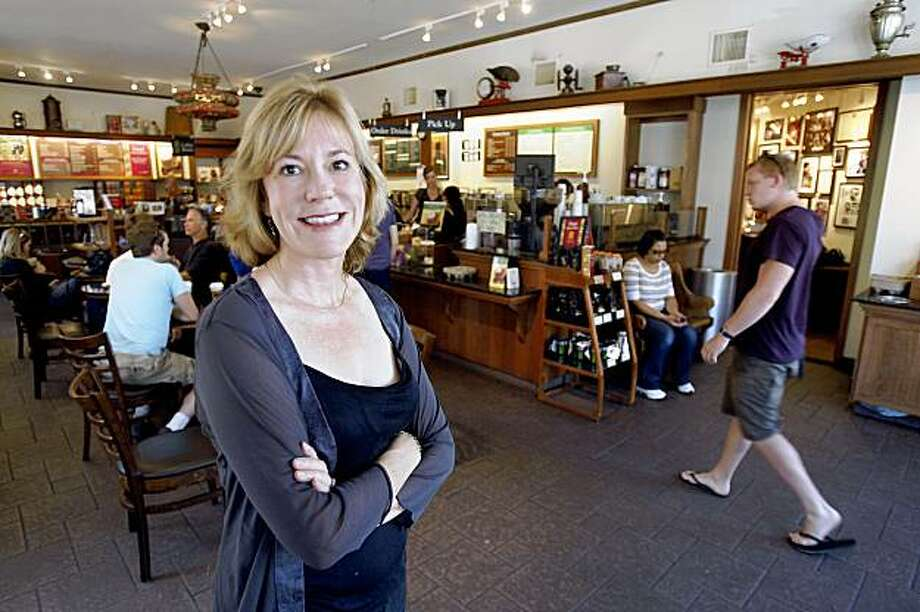 For Philippa Kelly, Peet's coffee house on Vine Street  in Berkeley, Calif., is one her favorite places in the Bay Area to hang out on September 10, 2009. Photo: Frederic Larson, The Chronicle