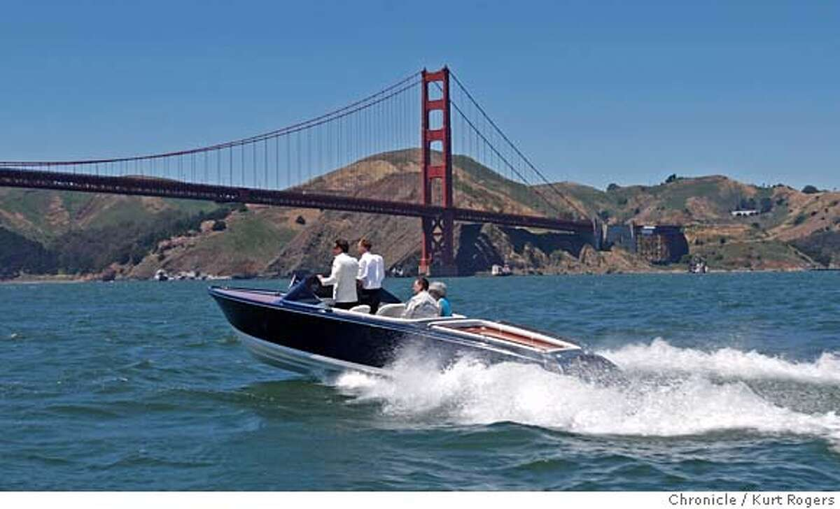 ###Live Caption:Michael Frauscher the head of boat building for the company of the same name Frauscher takes the new $180,000. Hybrid boat to the golden gate bridge. The New boat was introduced to the bay area on Friday , May 16, 2008 in San Francisco, Calif Photo By Kurt Rogers / San Francisco Chronicle###Caption History:Michael Frauscher the head of boat building for the company of the same name Frauscher takes the new $180,000. Hybrid boat to the golden gate bridge. The New boat was introduced to the bay area on Friday , May 16, 2008 in San Francisco, Calif Photo By Kurt Rogers / San Francisco Chronicle###Notes:Frauscher brings Hybrid boat to SF###Special Instructions:MANDATORY CREDIT FOR PHOTOG AND SAN FRANCISCO CHRONICLE/NO SALES-MAGS OUT