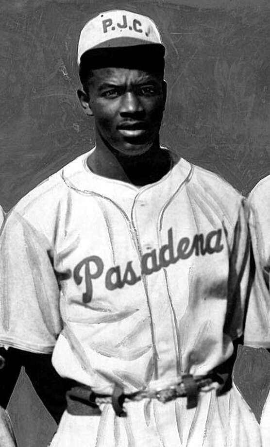 In 1938 and 1939, Jackie Robinson attended -- and played sports -- at what was then Pasadena Junior College. In 1938 and 1939, Jackie Robinson attended -- and played sports -- at what was then Pasadena Junior College. Illustrates ROBINSON (category a) by Corina Knoll (c) 2009, Los Angeles Times. Moved Friday, Oct. 9, 2009. (MUST CREDIT: Photo courtesy of California Historical Society.) Photo: California Historical Society ,  TPN