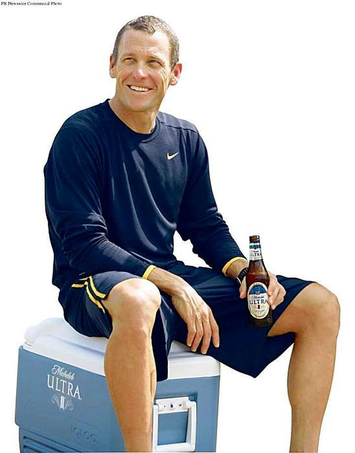 Michelob ULTRA announced today that seven-time Tour de France winner and cycling icon Lance Armstrong has signed a three-year agreement to become the brand's new spokesperson and ambassador.  (PRNewsFoto/Anheuser-Busch) Photo: PR NEWSWIRE