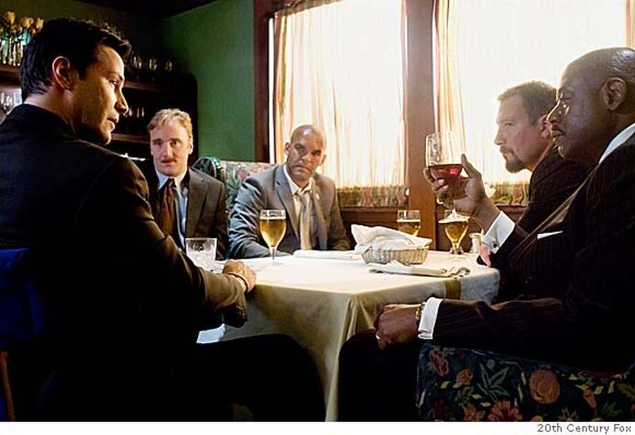 ###Live Caption:From left: Keanu Reeves, Jay Mohr, Amaury Nolasco, John Corbett and Forest Whitaker in STREET KINGS  20th Century Fox###Caption History:From left: Keanu Reeves, Jay Mohr, Amaury Nolasco, John Corbett and Forest Whitaker in STREET KINGS  20th Century Fox  Ran on: 04-11-2008  Keanu Reeves (from left), Jay Mohr, Amaury Nolasco, John Corbett and Forest Whitaker in &quo;Street Kings.&quo;  Ran on: 04-11-2008###Notes:###Special Instructions: Photo: 20th Century Fox