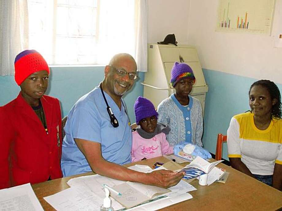 Dr. Robert Scott III in his clinic in Zimbabwe Photo: Rey Orlando
