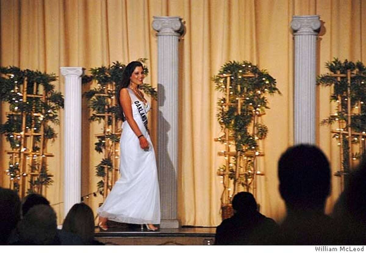 Ava McLeod of San Francisco participates in the Miss California Teen USA beauty pageant in 2007. Photo: William McLeod / Special to the Chronicle