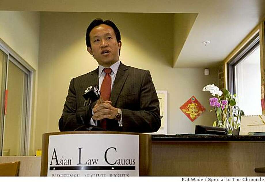 David Chiu, President of the San Francisco Board of Supervisors speaks during the media preview of the Fred T. Korematsu Civil Rights and Eduction Institute at the Asian Law Caucus in San Francisco, Calif. on Monday, April 27, 2009. Photo by Kat Wade / Special to the Chronicle Photo: Kat Wade, Special To The Chronicle
