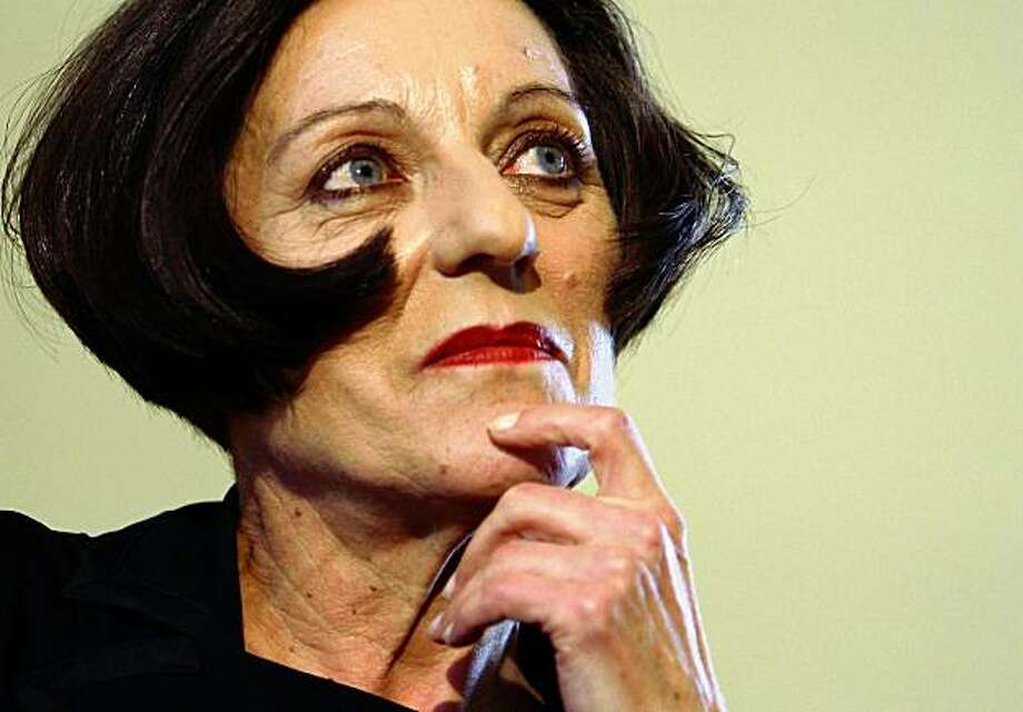 German writer Herta Mueller looks on during a press conference on October 8, 2009 in Berlin, Germany. 56-year-old Romanian-born German writer Herta Mueller won the 2009 Nobel Prize in literature Thursday, honored for work that 'with the concentration of poetry and the frankness of prose, depicts the landscape of the dispossessed,' the Swedish Academy said.  (Photo by Andreas Rentz/Getty Images) Photo: Andreas Rentz, Getty Images