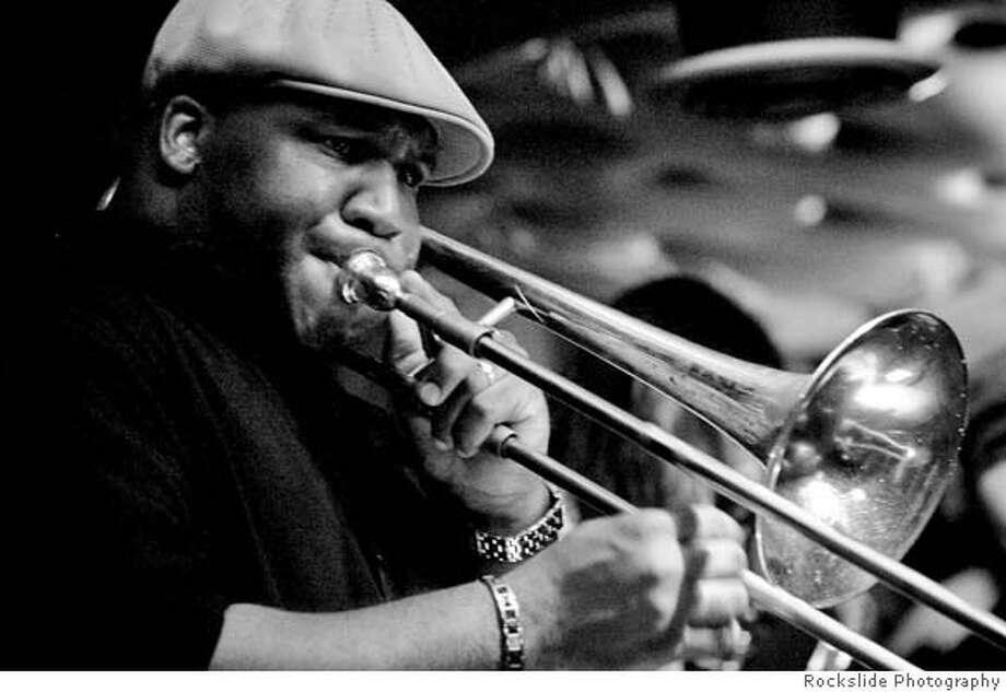 Trombonist Sammie Williams of Big Sam's Funky Nation. Credit: Rockslide Photography Photo: Rockslide Photography