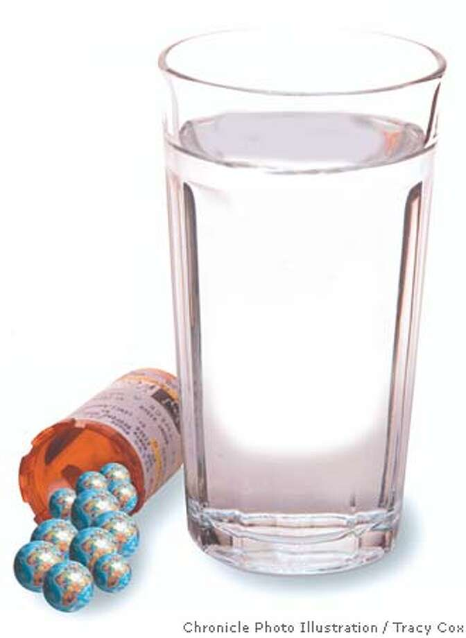 Uninsured turn to imported drugs bought online. Chronicle photo illustration by Tracy Cox