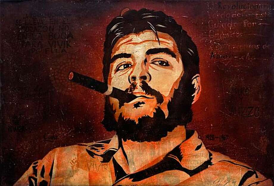 "Ernesto Yerena's ""Che Guevarra"" and other studies of Latin revolutionaries are part of ""The Stencil Show"" at White Walls Gallery. Photo: White Walls Gallery"