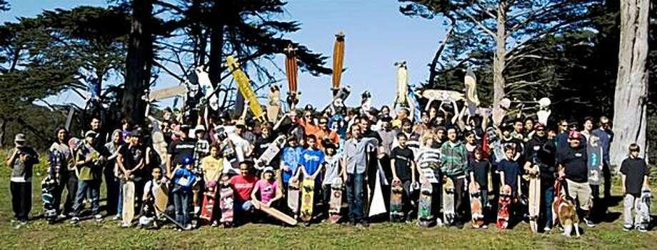 Participants of Purple Skunk's All Skate Jam 2008 in Golden Gate Park Photo: Maria Carrasco