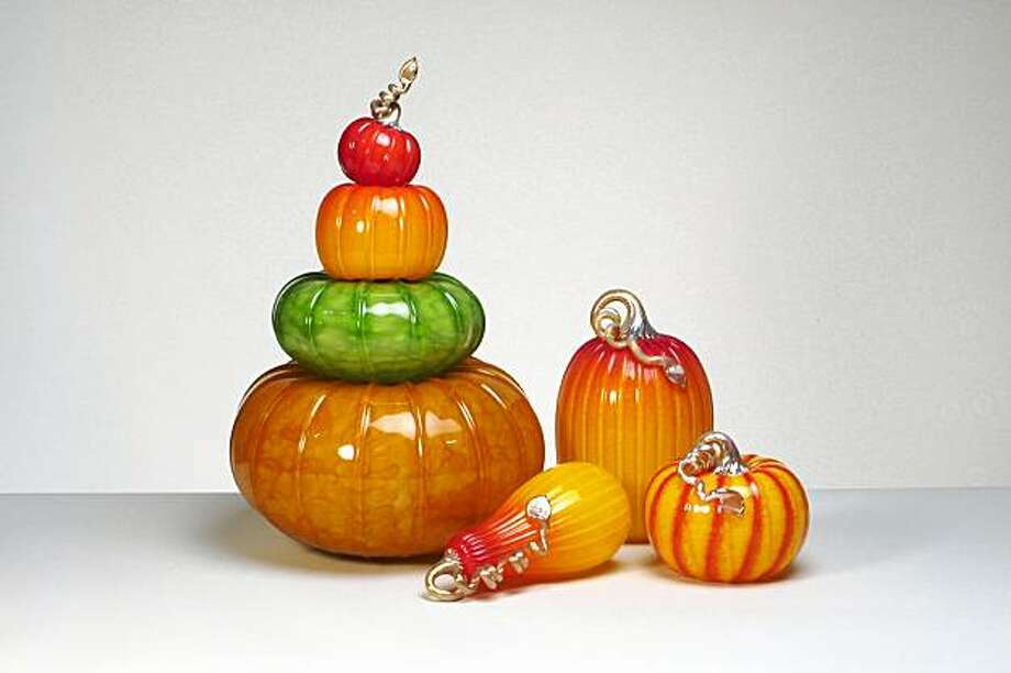 Cohn-Stone Studios glass pumpkins Photo: Cohn-Stone Studios