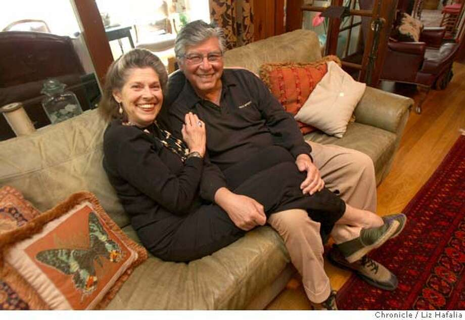 Janet and Luis Gutierrez on their couch in their Los Gatos home on Tuesday, April 15,2008. Liz Hafalia / The Chronicle / {city } / 4/15/08  Photo by Liz Hafalia / San Francisco Chronicle Photo: Liz Hafalia