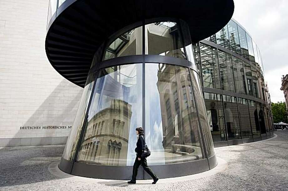 (NYT55) BERLIN, Germany -- June 17, 2008 -- BERLIN-CULTURE-ADV22-3 --  A pedestrian passes M. Pei's addition for the Deutsches Historisches Museum, in Berlin, Germany, May 2008. (Oliver Hartung/The New York Times) Photo: Oliver Hartung, NYT