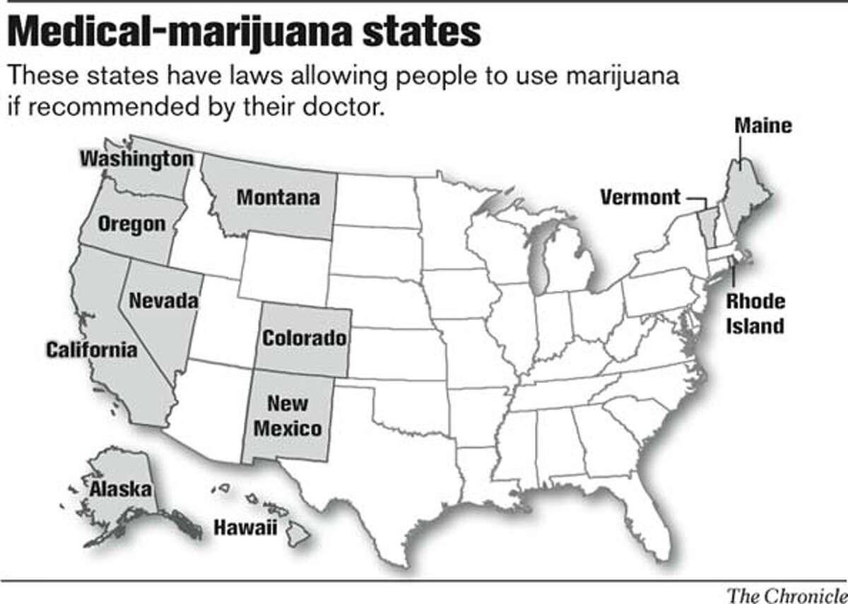 Medical-marijuana states. Chronicle Graphic