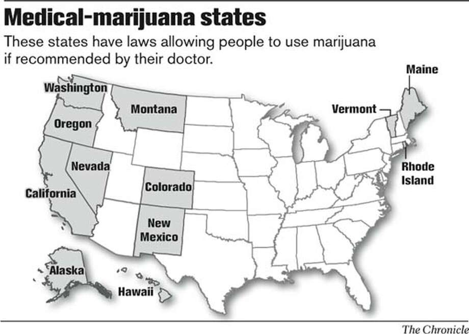 Medical-marijuana states. Chronicle Graphic