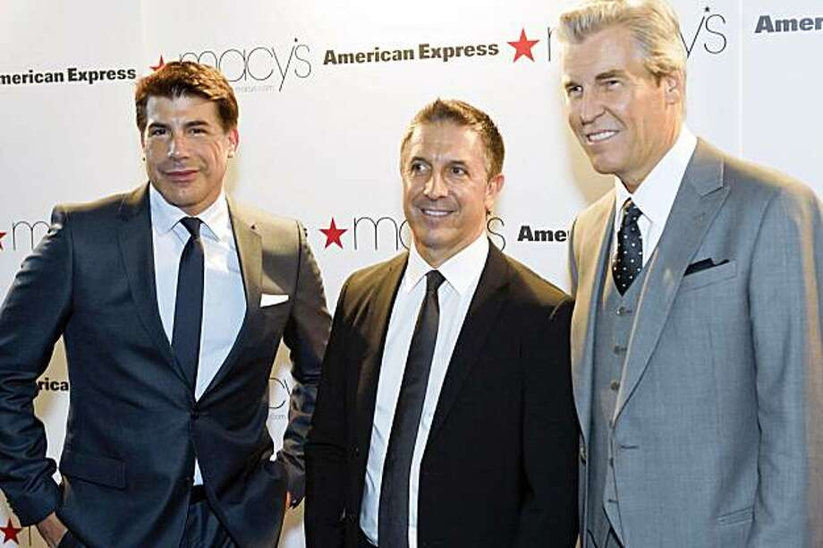 "Bryan Batt of ""Mad Men"" was the celebrity host at Passport. Bryan Batt (From Mad Men), Mark Brashear (Hugo Boss President, Chairman and CEO for the Americas), Terry Lundgren (Macy's Inc. Chairman, President and CEO) Photo: Drew Altizer Photography"