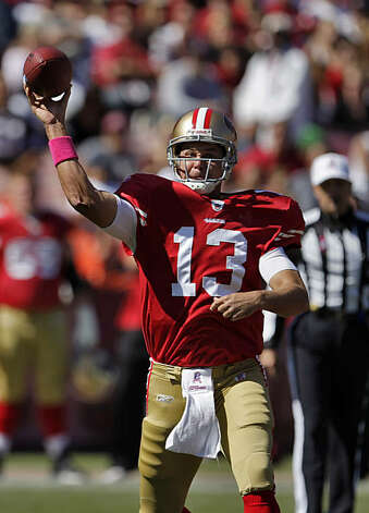 49ers quarterback Shaun Hill passes in the first quarter of the game against the St. Louis Rams at Candlestick Park in San Francisco on Sunday. Photo: Carlos Avila Gonzalez, The Chronicle