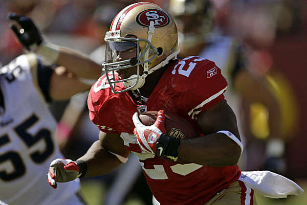 The 49ers' Glen Coffee ran for 74 yards in the absence of the team's leading rusher, Frank Gore, in San Francisco's game against the St. Louis Rams at Candlestick Park in San Francisco on Sunday. Photo: Carlos Avila Gonzalez, The Chronicle