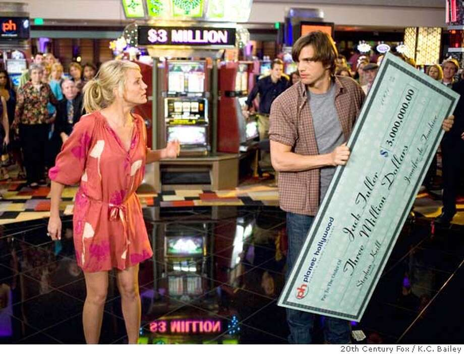 "In this image released by 20th Century Fox, Ashton Kutcher plays Jack Fuller, right, and Cameron Diaz plays and Joy McNally in a scene from, ""What Happens in Vegas."" (AP Photo/20th Century Fox, K.C. Bailey) ** NO SALES, FOR EDITORIAL USE ONLY ** Photo: K.C. Bailey"
