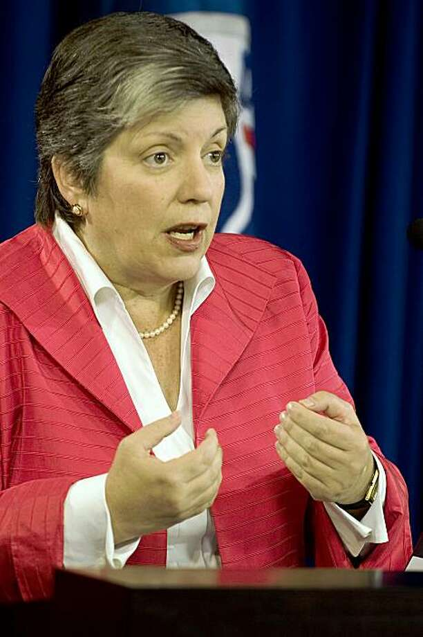 Homeland Security Secretary Janet Napolitano announces new immigration detention reforms at Immigration and Customs Enforment in Washington, DC, October 6, 2009. Photo: Jim Watson, AFP/Getty Images