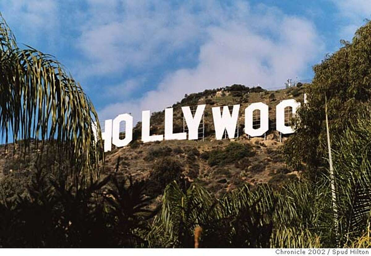 TRAVEL HOLLYWOOD -- Hollywood sign. (Ya think?) Credit: Spud Hilton / The Chronicle 2002 Ran on: 02-24-2008 Photo caption