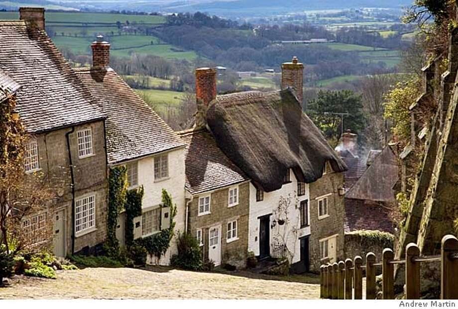 Gold Hill in Shaftesbury, Dorset, England. Photo: Andrew Martin