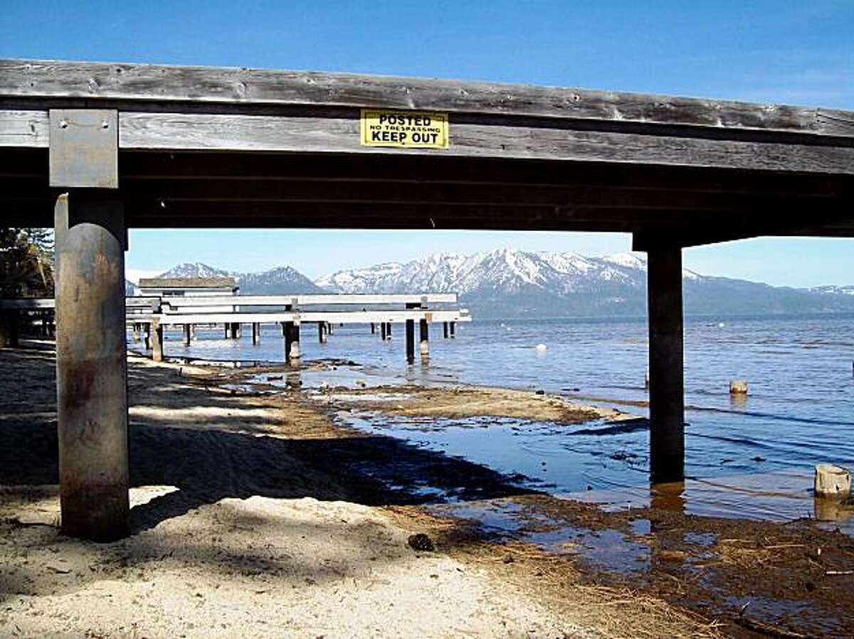 A private pier on the South Shore of Lake Tahoe.