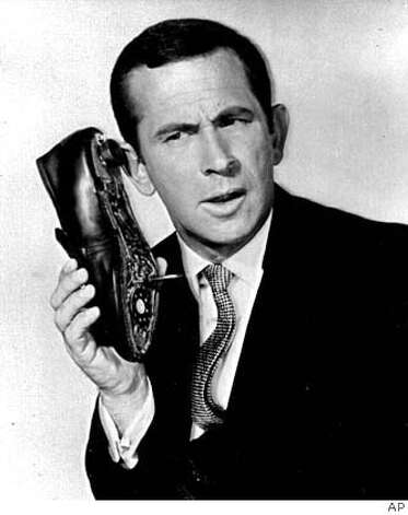 "In this undated file photo, Don Adams is seen in character as Maxwell Smart. Adams, the wry-voiced comedian who starred as the fumbling secret agent Maxwell Smart in the 1960s TV spoof of James Bond movies, ""Get Smart,"" died of a lung infection late Sunday, Sept 25, 2005 in Los Angeles. He was 82. (AP Photo) Ran on: 09-27-2005 Ran on: 09-27-2005 Ran on: 12-29-2005  &quo;Tonight Show&quo; host Johnny Carson wipes his eyes during the taping of his last show in 1992. He died Jan. 23.Ran on: 03-10-2006  Domestic spies have repeatedly failed in their efforts.  Ran on: 05-07-2008  Clockwise, from left: Underdog, Don Adams as Maxwell Smart and chipmunk Alvin. Photo: AP Photo"