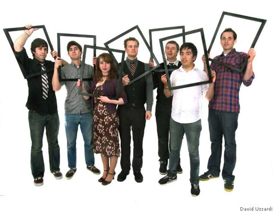 Here Here is from left to right: Jason Taylor, Brendan Allen, Chloe Allen, Christian Lyon, Ryan McGee, Carlos Martinez, Patrick Otellini Photo: David Uzzardi