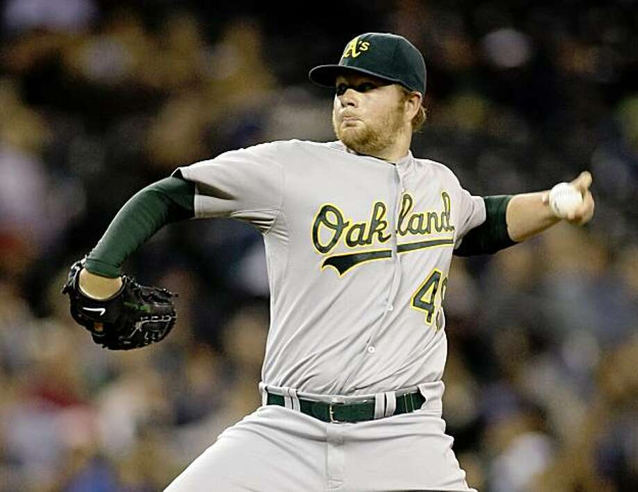 Oakland Athletics starting pitcher Brett Anderson throws in the second inning of a baseball game against the Seattle Mariners, Thursday, Oct. 1, 2009, in Seattle. (AP Photo/Ted S. Warren) Photo: Ted S. Warren, AP