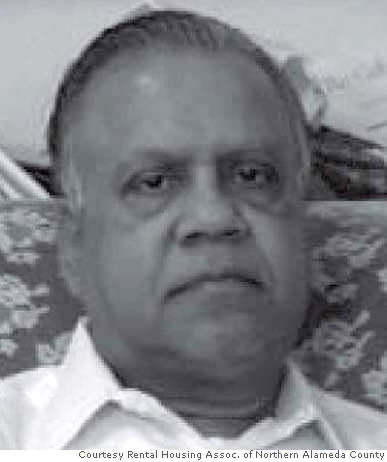 Kulbushan Gupta, 64, was allegedly shot and killed by his tenant Frank Spillman after Gupta was planning to evict him, according to Oakland police. Photo Courtesy Rental Housing Assoc. of Northern Alameda County Ran on: 05-03-2008  Kulbushan Gupta Photo: Rental Housing Assoc. Of Norther