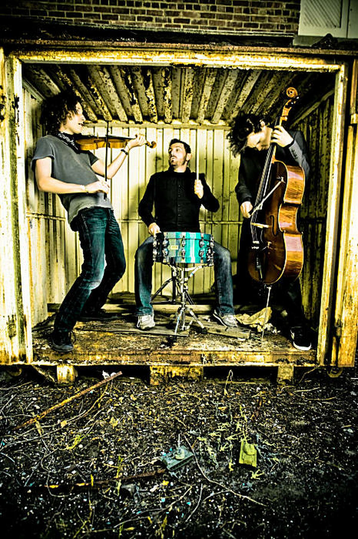 San Francisco string-metal band Judgement Day featuring (from left) Anton Patzner, Jon Bush and Lewis Patzner.
